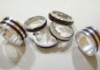 obrączki srebrne z bursztynem